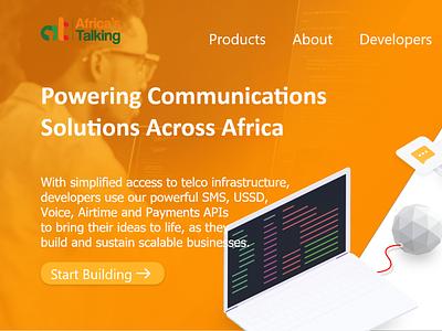 Africa s Talking  Website UI ui  ux ui uidesign