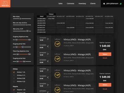 Blixen Tours - Search Results design graphic web ux ui interface