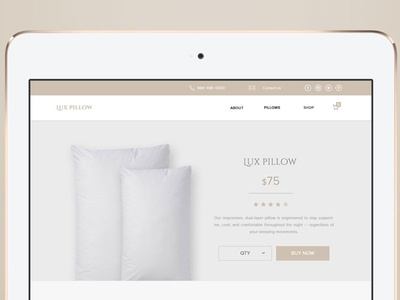 LuxPillow  web graphicdesign design ux ui product