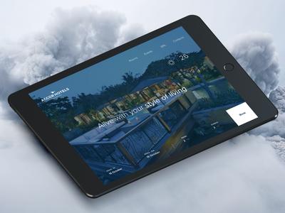 Hotel Landing page design tourism travel boking accor ux ui web hotel