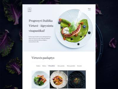 Restaurant WEB Design tourism travel food restaurant