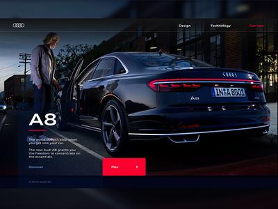 Audi - Being Ahead through Technology auto car webdesigner lukasrasciauskas lucasagency webdesign web uxdesign ux ui uidesign audi