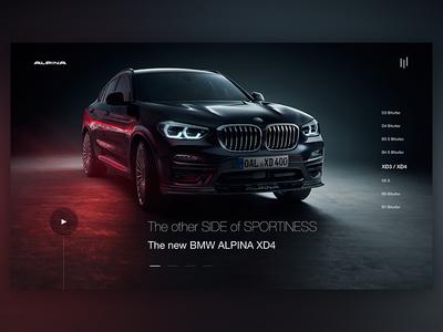 Alpina web design concept landingpage auto motor car alpina webdesign ux ui bmw