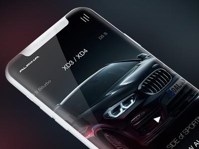 Alpina web design mobile concept auto car webdesigner lukasrasciauskas lucasagency webdesign web uxdesign ux ui uidesign bmw