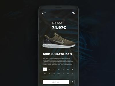 Nike Lunarglide 9 ux sportdesign design web green mobile uxdesign lucasagency nike sport ui webdesign