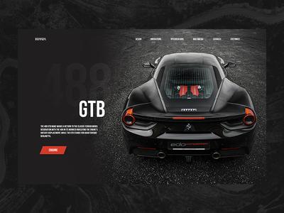 Ferrari 488 webdesigner sport lukasrasciauskas car auto uxdesign lucasagency design webdesign web ux ui