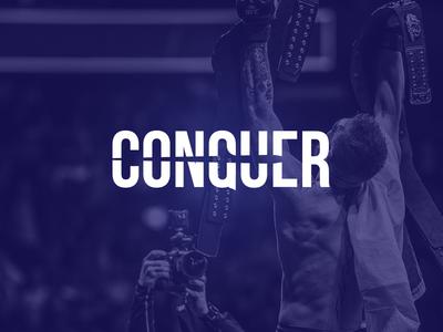 Conquer typography sport lucasagency design logo logodesign