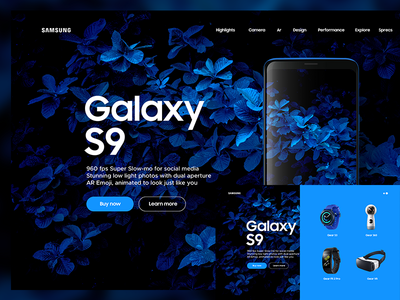 Samsung S9 ux uxdesign webdesign lucasagency web ui