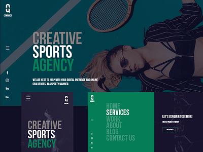 Conquer webdesigner sportdesign uidesign lukasrasciauskas webdesign sport uxdesign design ux lucasagency web ui