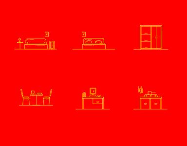 Furniture Brand Icon Set mockups vector design graphic design icon designer icons icon design iconography icon set minimal vector branding adobe illustrator