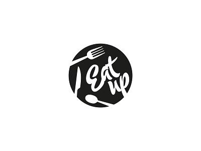 EatUp cafeteria minimal logo minimalist logo minimal circle design circle logo black logo spoon knife fork eat up canteen logo restaurant logo eat food logo simple logo logotype logo design logo