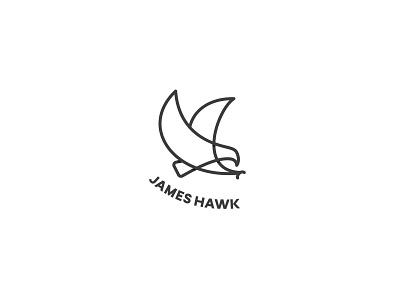 James Hawk bird logo bird one line logo oneline one line minimal design animal logo hawk logo hawk simple logo minimal logo design logo