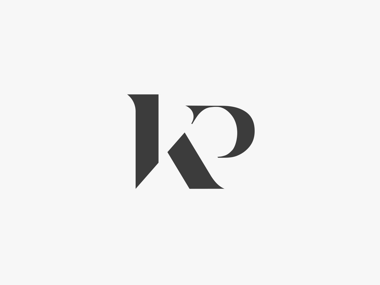 KP monogram logo monogram letter mark classic subtle logo subtle logo designer logo design logotype simple logo kp monogram minimal design logo