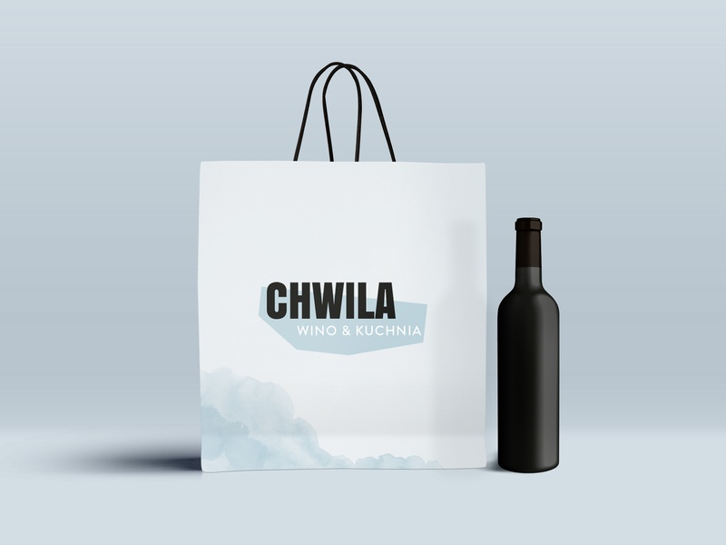 Chwila scandinavian minimalist logo watercolor watercolour wine winery logo branding minimal logo design logo