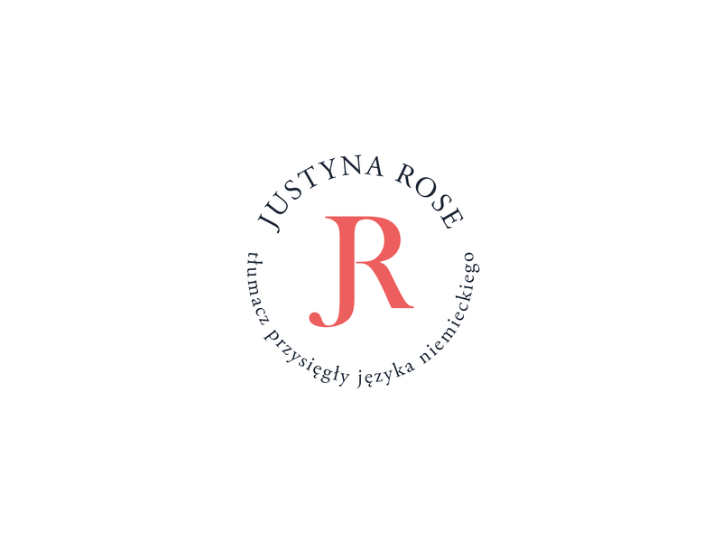 Justyna Rose logo rose minimalist logo jr monogram jr simple logo feminine design feminine logo personal branding branding logo design logo