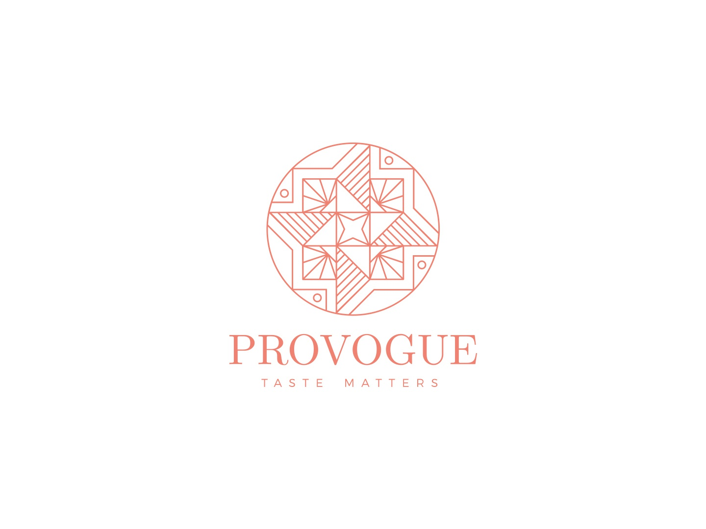 provogue taste matters abstract logo