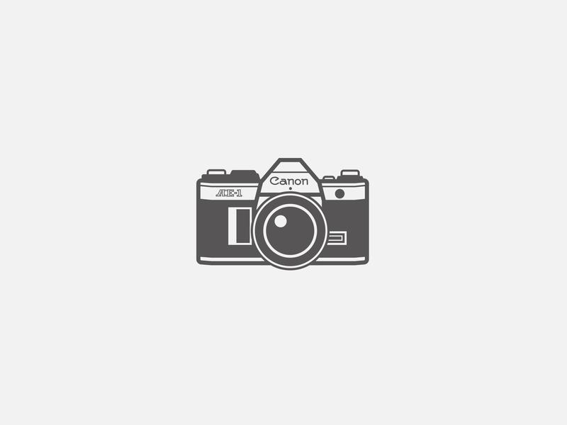 Retro Canon Camera simple icon illustration vintage camera retro camera camera canon
