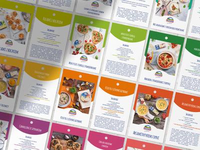 Hochland recipe flyers cleandesign recipe flyer recipe flyer design flyers flyer hochland