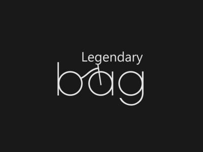 Legendary bag simple design modern design modern minimal logo minimal legendary bag bike logo bike logotype logo