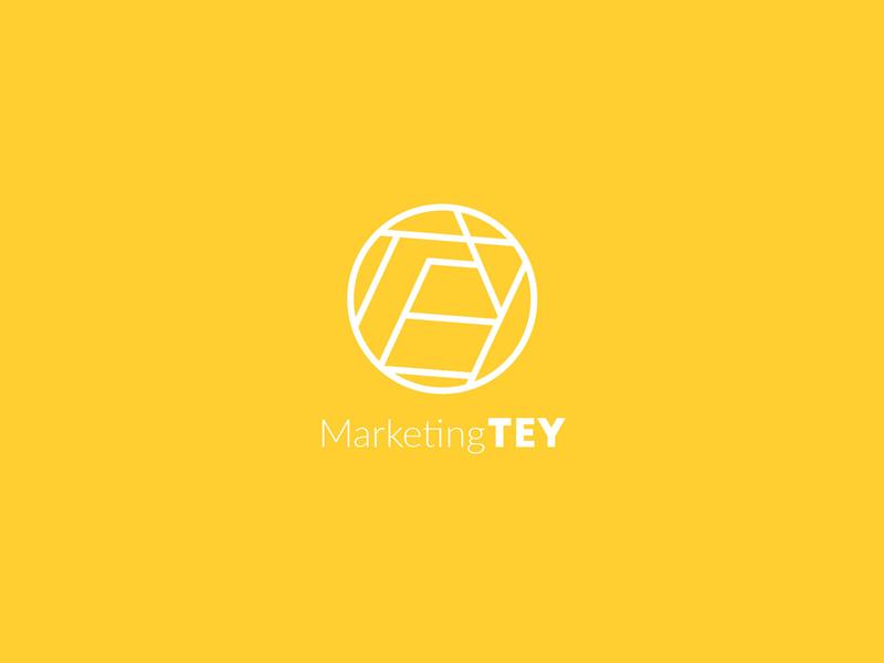 Marketing TEY / Logo yellow marketing logo simple logo minimal branding logo design logo