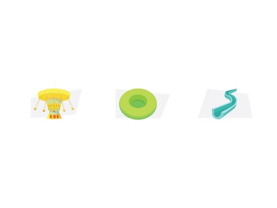 Malta Ski icons proposal iconography 3d icon modern icon design icon set icons amusement illustration colorful slide carousel icon