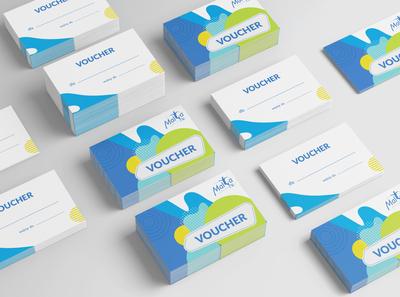 Malta Ski voucher print playful fun amusement park branding voucher design voucher
