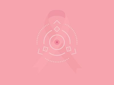 Breast Cancer Awareness Month mandala girly feminine simple ribbon simple illustration breast cancer awareness pink ribbon pink