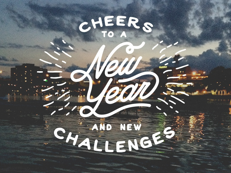 Cheers to a New Year by Branson Werner on Dribbble