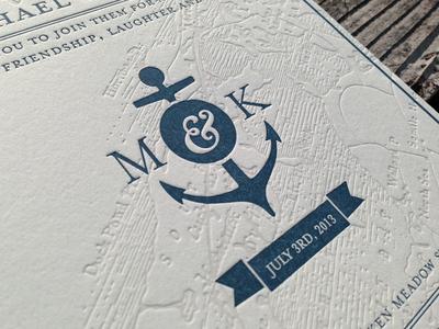 Wedding Invite Letterpress