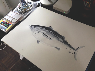 Tuna Watercolor