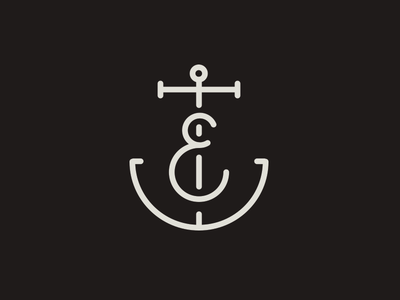E Anchor Monogram