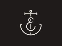 E Anchor Monogram