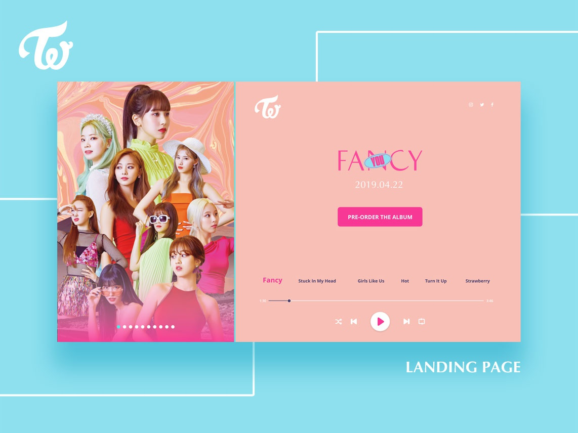 TWICE Fancy You / Landing Page design user interface web design website landing page ux ui uiux user experience graphic design dailyui