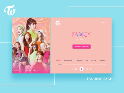 TWICE Fancy You / Landing Page