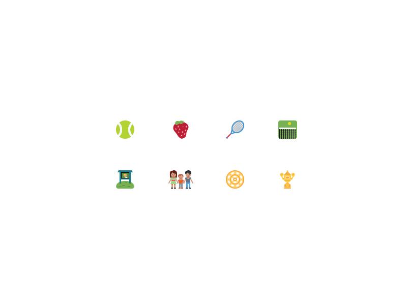 Wimbledon Emoji by Jeremy Reiss for Twitter Design on Dribbble