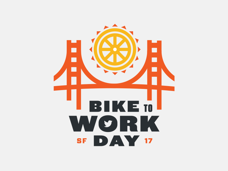 Bike to Work Day 2017 bike sun bridge twitter
