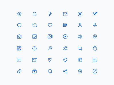 Twitter Redesign: Icons vector icons twitter