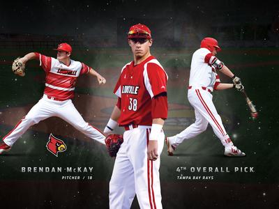 Brendan Mckay kentucky sports photoshop hitter pitcher cardinals louisville baseball