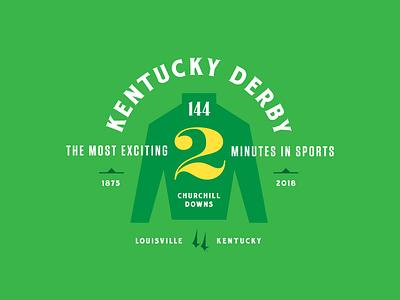 Kentucky Derby 144 typography racing horse jockey louisville churchill downs derby kentucky