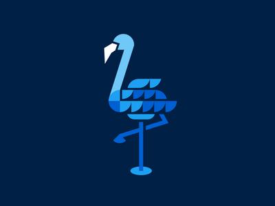 Twitter Miami abstract feathers neon miami art deco flamingo twitter