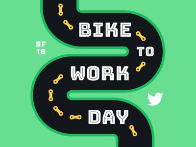Bike to Work Day 2018 sticker typography chains road sf day work bike twitter