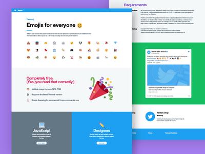 Twitter emoji marketing site