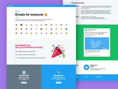 Twitter emoji marketing site responsive unicode illustration web emoji twitter