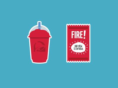 Taco Bell sticker sheet