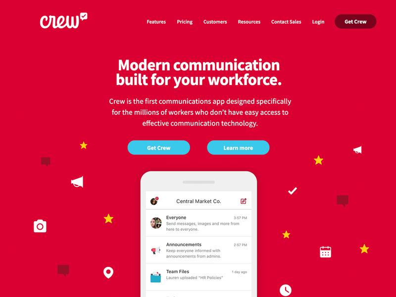 New Crew Site crew icon app branding website