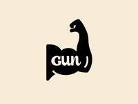 Gun vector typography illustration gun muscle baseball
