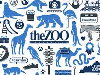 Louisville Zoo 50th Anniversary flamingo polar bear camel giraffe illustration animals zoo kentucky louisville