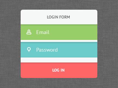 Free Psd Login Form 2 flat minimal ui psd user interface free sign in log in login form freebie registration login