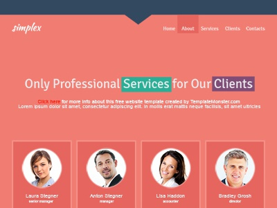 Free Single Page Website Template For Business Site By