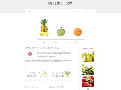 Organic Food Website Designs Themes Templates And Downloadable Graphic Elements On Dribbble